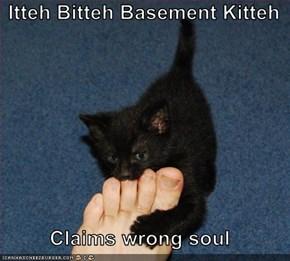 Itteh Bitteh Basement Kitteh  Claims wrong soul