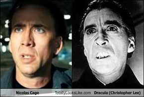 Nicolas Cage Totally Looks Like Dracula (Christopher Lee)