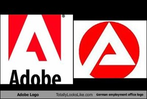 Adobe Logo Totally Looks Like German employment office logo