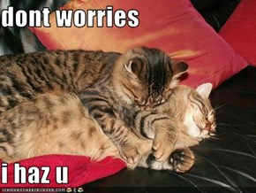 dont worries  i haz u