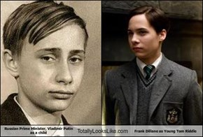 Russian Prime Minister, Vladimir Putin as a child Totally Looks Like Frank Dillane as Young Tom Riddle