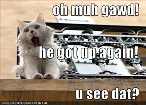 oh muh gawd! he got up again! u see dat?