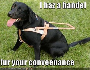 I haz a handel  fur your conveenance