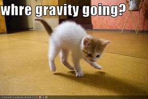 whre gravity going?