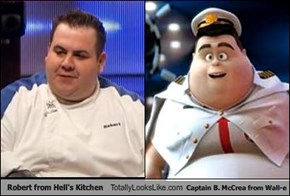 Robert from Hell's Kitchen Totally Looks Like Captain B. McCrea from Wall-e