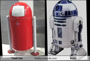 Trash Can Totally Looks Like R2D2