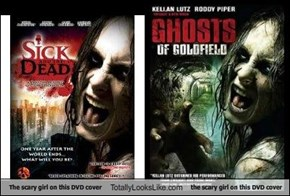 The scary girl on this DVD cover Totally Looks Like the scary girl on this DVD cover