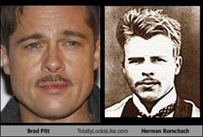 Brad Pitt Totally Looks Like Herman Rorschach