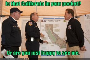 Is that California in your pocket?  Or are you just happy to see me.