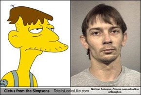 Cletus from the Simpsons Totally Looks Like Nathan Johnson, Obama assassination attemptee