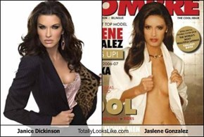 Janice Dickinson Totally Looks Like Jaslene Gonzalez