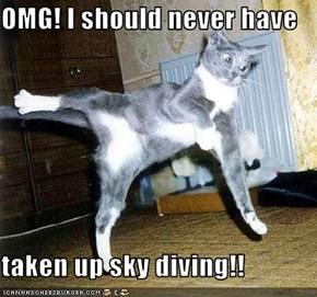 OMG! I should never have  taken up sky diving!!