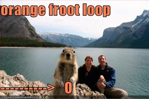 orange froot loop  ---------->   O