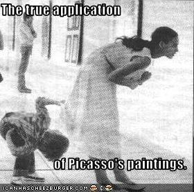 The true application  of Picasso's paintings.