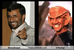 Ahmedinejad Totally Looks Like A Ferengi