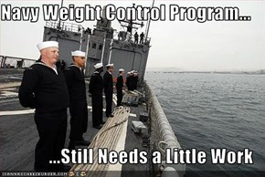 Navy Weight Control Program...  ...Still Needs a Little Work