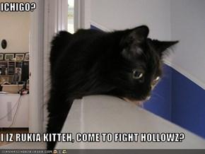 ICHIGO?  I IZ RUKIA KITTEH, COME TO FIGHT HOLLOWZ?