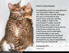 For my cheezfriends