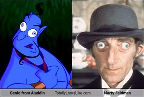 Genie from Aladdin Totally Looks Like Marty Feldman