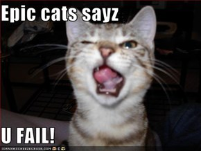 Epic cats sayz  U FAIL!