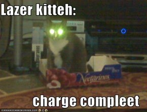 Lazer kitteh:  charge compleet