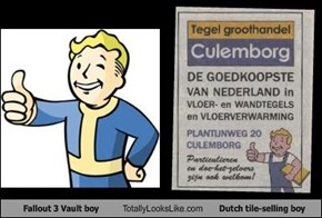 Fallout 3 Vault boy Totally Looks Like Dutch tile-selling boy