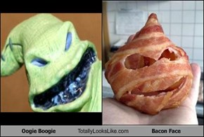 Oogie Boogie Totally Looks Like Bacon Face