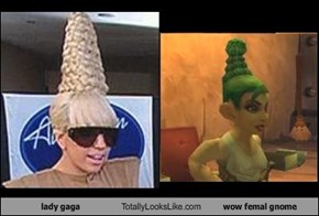 lady gaga Totally Looks Like wow femal gnome