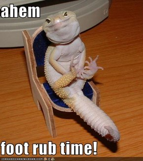 ahem  foot rub time!