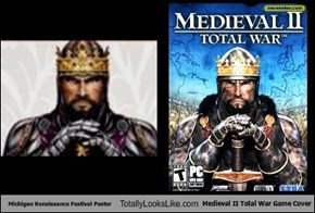 Michigan Renaissance Festival Poster Totally Looks Like Medieval II Total War Game Cover