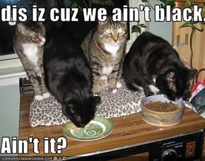 dis iz cuz we ain't black.  Ain't it?