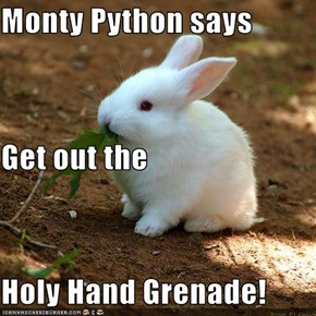 Monty Python says Get out the Holy Hand Grenade!