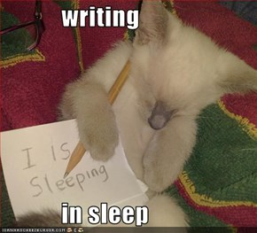 writing              in sleep