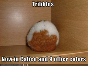 Tribbles   Now in Calico and 9 other colors