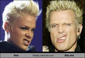 Pink Totally Looks Like Billy idol