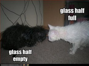 glass half empty