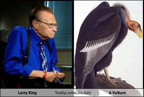 Larry King Totally Looks Like A Vulture