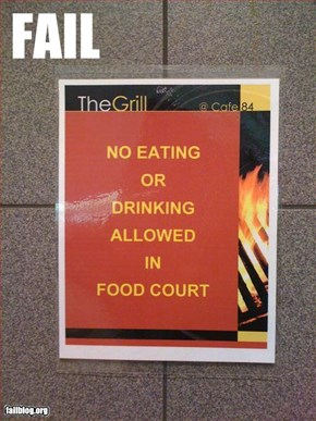 Food Court Fail