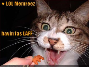 ♥ LOL Memreez  havin las LAFF