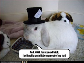 And, NOW, for my next trick,  I will pull a cute little man out of my hat!