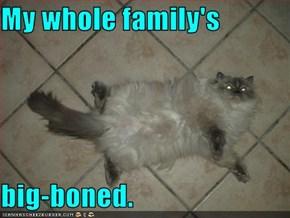 My whole family's  big-boned.