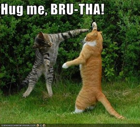 Hug me, BRU-THA!