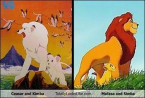 Ceasar and Kimba Totally Looks Like Mufasa and Simba