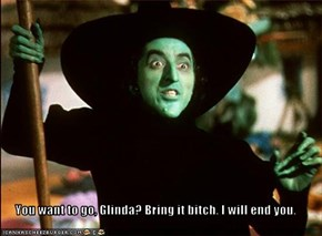 You want to go, Glinda? Bring it bitch. I will end you.
