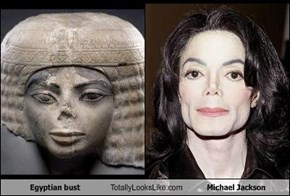 Egyptian bust Totally Looks Like Michael Jackson