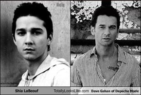 Shia LaBeouf Totally Looks Like Dave Gahan of Depeche Mode