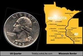 US Quarter Totally Looks Like Wisconsin Border