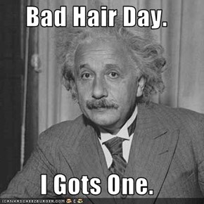 Bad Hair Day.  I Gots One.