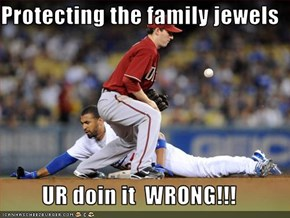 Protecting the family jewels  UR doin it  WRONG!!!