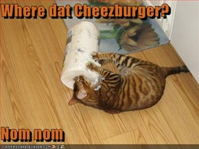 Where dat Cheezburger?  Nom nom